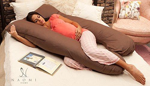 Naomi Home Cozy Body Pillow Espresso