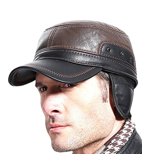 Leather Winter Hat - 3