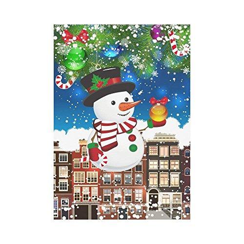 christmas snowman ball polyester garden