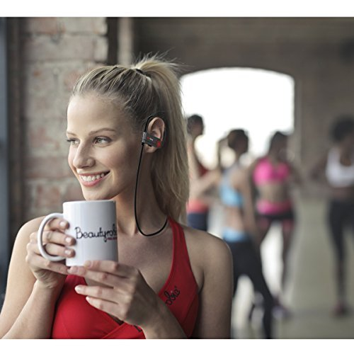 Bluetooth Kopfhörer,AceTend Bluetooth Kopfhörer V4.1 In Ear Wireless Sport Headset IPX7 Wasserschutz Ohrhörer mit Mikrofon für iPhone, iPad, Samsung und mehr