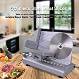 Yescom 8.5'' Electric Meat Food Slicer Stainless Steel Blade150W Bacon Bread Cheese Ham Deli Fruit Veggies Cutter Home