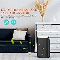 Afloia Electric Dehumidifier for Home Bathroom 2000ML(68 oz),Portable Dehumidifiers for Home 2201 Cubic Feet Space,Quiet Auto-Off Dehumidifiers for Bathroom Kitchen Bedroom Bedroom Closet