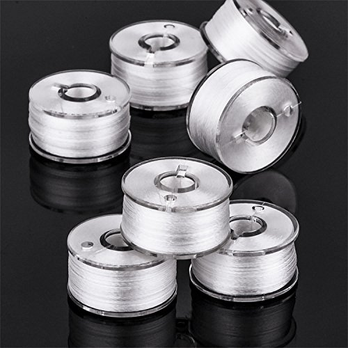 eBoot 144 Pack White Prewound Bobbins Sewing Thread Bobbins for Brother Babylock Janome Elna Singer Embroidery machine Size A Sewing