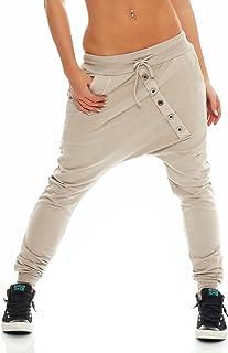 Malito Pantalón Boyfriend Classic Botón Baggy Aladin Bombacho Sudadera 8023 Mujer Talla Única