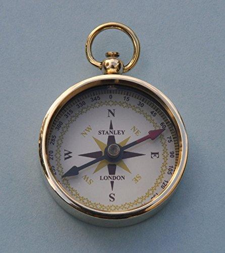 Solid Brass Airborne Paratrooper Pocket Compass