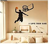 Basketball Wall Decals,sports Boys Wall Decals for room decor