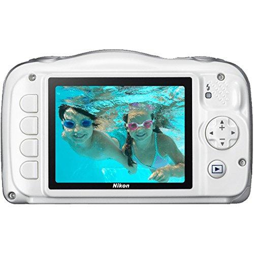 Nikon COOLPIX S33 13.2MP Waterproof Shockproof Freezeproof Digital Camera (White)(Certified Refurbished)
