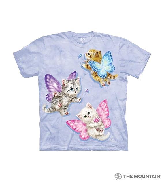 720d9f0f4beee2 Amazon.com: The Mountain Kids' T-Shirt - Butterfly Kitten Fairies S ...