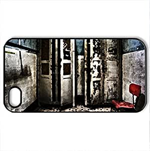 dirty bathroom hdr - Case Cover for iPhone 4 and 4s (Watercolor style, Black)