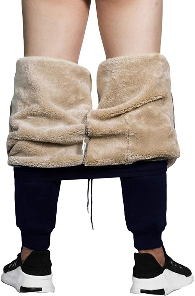 Hombre Pantalones de Chándal - Cálido Espesar Cachemir ...