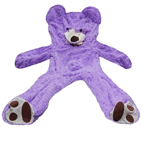 6.5 Feet Huge Giant Teddy Bear Cover, Big Bear Costume Suit (Not Filled),(Purple, 2 m) ()