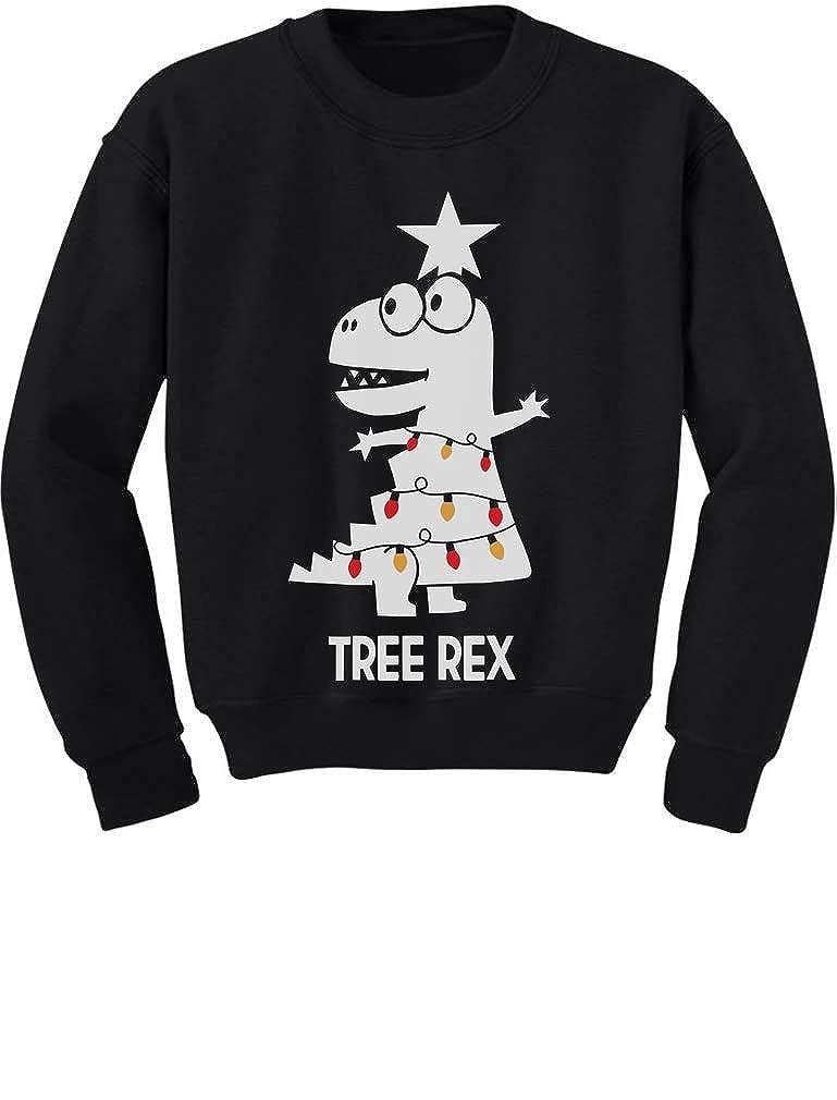 TeeStars - Tree Rex Cute Funny T-Rex Dinosaur Christmas Toddler/Kids Sweatshirt 4T Black GMPlhZ3gf5Plf59ho