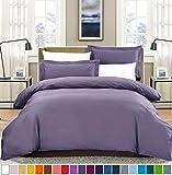 SUSYBAO 2pc Bedding Duvet Cover & Pillow Sham Set, Twin, Lilac Purple Deal