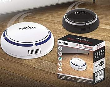 Mini Robot Aspirador con Navegación Inteligente Diámetro 19cm Funciona con batería cargable con cable USB incluido sin cables silencioso eficiente deteccion de objetos tamaño pequeño Aspilite: Amazon.es: Hogar
