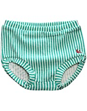 Weixinbuy Girls' Cotton Shorts PP Pants Nappy Diaper Covers Striped Bloomers