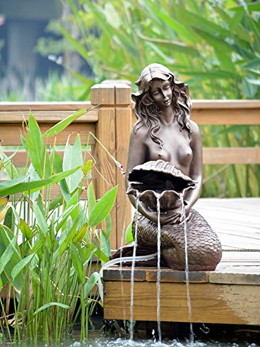 UPC 760853888179, ASC Solar Mermaid Pond Water Fountain