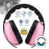 Baby Noise Cancelling HeadPhones, Baby Earmuffs, Baby Headphones, Baby Ear Protection, Baby hearing protection noise reduction, Pink