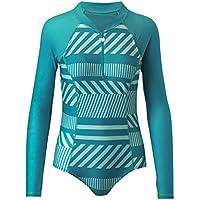 UV SKINZ UPF 50+ Women's Long Sleeve Half-Zip Swimsuit