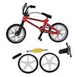 Dovewill Stylish Finger Mountain Bike Bicycle with Spare Tires Tools Boys Toy Creative Game Collection Gift Red