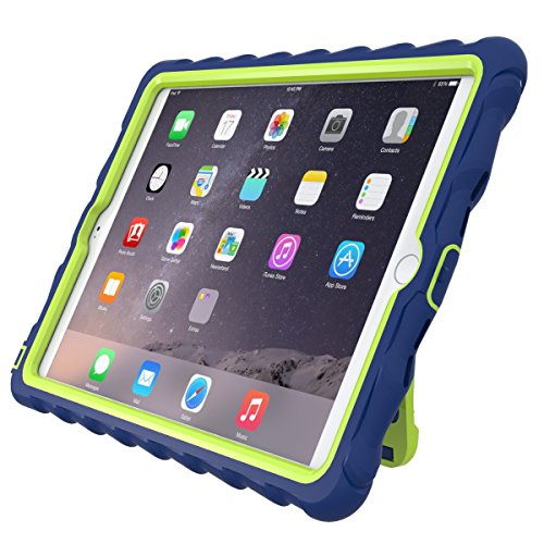 Gumdrop Cases CUST-GSIPADAIR2-RYL_LME  Hideaway Stand for Apple iPad Air 2 Rugged Tablet Case Shock Absorbing Cover Royal Blue/Lime A1566, A1567