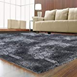 LOCHAS Ultra Soft Indoor Area Rugs 5.5 cm Thick Fluffy Living Room Carpets Suitable for Children Kids Baby Bedroom Home Decor Nursery Rugs 4' x 5.3' (Grey)