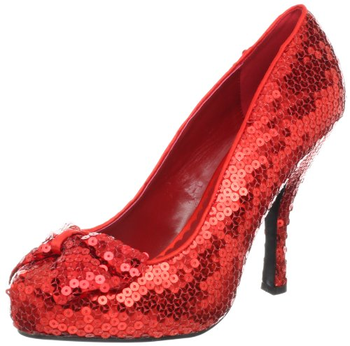 Funtasma Women's Oz-06/RSQ Pump,Red Sequins,9 M US
