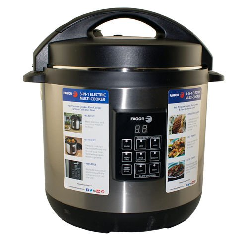 Fagor 670040230 Stainless-Steel 3-in-1 6-Quart Multi-Cook...