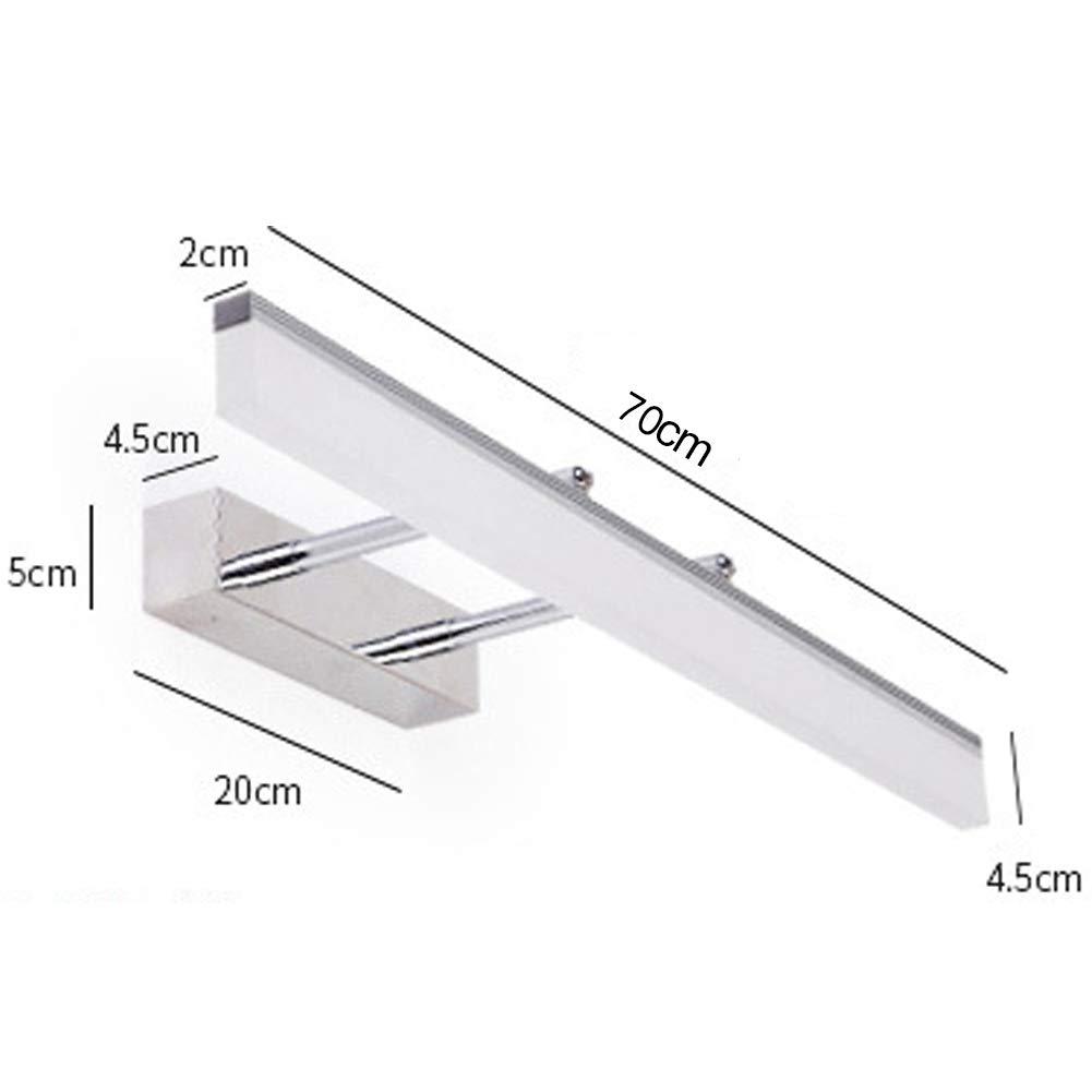 Luci da specchio per il bagno Lampada da parete a LED moderna semplice applique da parete impermeabile con certificazione 3C oro-40CM dimming