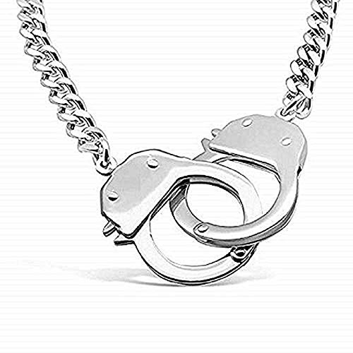 Discount Gift Depot Silver 316L Jewelry Stainless Steel Handcuff Necklace