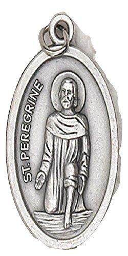 JMJ Products,LLC St. Peregrine Oval Patron Saint Medal on Flip Ring