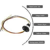 Anillo Colector, 250 RPM 15A 3 Cables 0-600V
