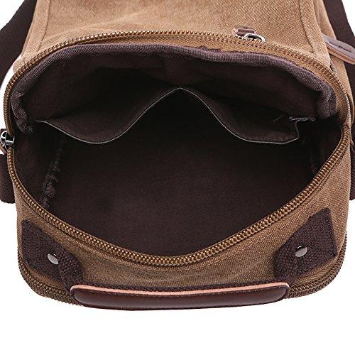 Mygreen Men's Multifunctional Canvas Shoulder Bag Handbag Multi-Pockets Business Messenger Bags Outdoor Sports Over Shoulder Crossbody Side Bag by mygreen (Image #3)