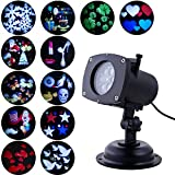 holiday outdoor projector - Projector Lights, Oxyled LED Party Projection Lamp, Colorized Auto Moving LED String lights With 12 Lighting Modes, 6 LED, Waterproof for Party & Holiday, Black