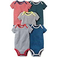 Baby Boys' 5 Pack Bodysuits (Baby) - Mixed Stripes 9M