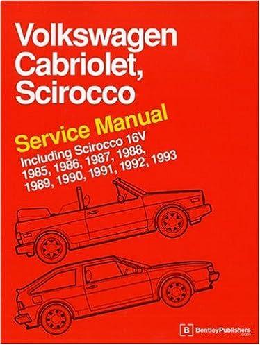 volkswagen cabriolet, scirocco service manual 1985 19931975 1976 1977 1979 vw rabbit scirocco