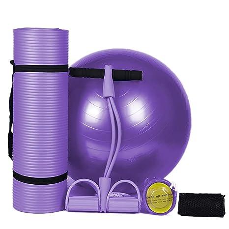 Finly Juego de 4 Alfombrillas de Yoga Antideslizantes para Fitness ... 88ccdcd9e38b