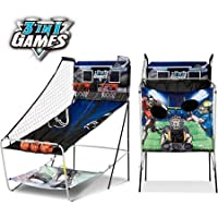 Foldable and Lightweight MD 3-In-1Sports,Basketball,Baseball & Football Games,Includes: 3 Basketballs, 2 Footballs, 2…