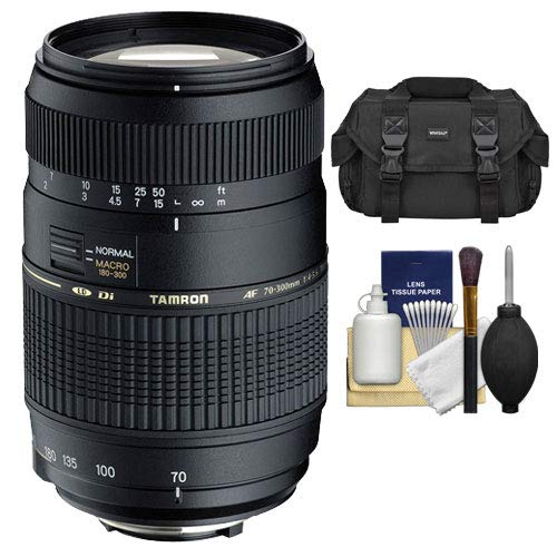 Tamron AF 70 – 300 mm f/4 – 5.6 Di LD MACRO lente + funda + kit de ...