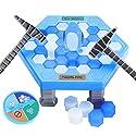 テーブルゲーム 子供 ペンギン アイス トラップ ひび割れゲーム ブロック壁 おもちゃ デスクトップ 親子ゲーム 知育遊具 Penguins on Ice Game Knock Ice Prosperveil