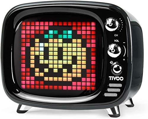 Divoom Tivoo klassieke retro bluetooth luidspreker met 6W audio, programmeerbaar led scherm bestuurbaar via mobiele app
