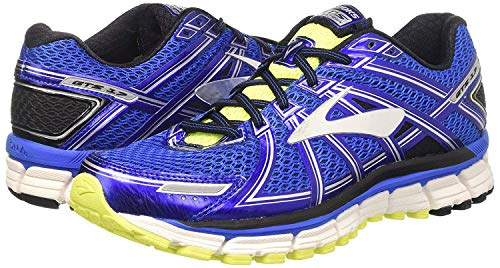 Men's Brooks Adrenaline GTS 17 Running Shoe Anthracite/Electric Brooks Blue/Silver Size 9 M US