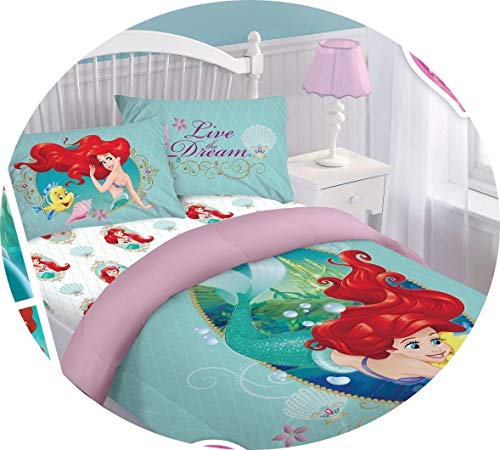 Disney Princess Little Mermaid Ariel Ocean Dream Twin Sized 3 Pieces Bedding Set
