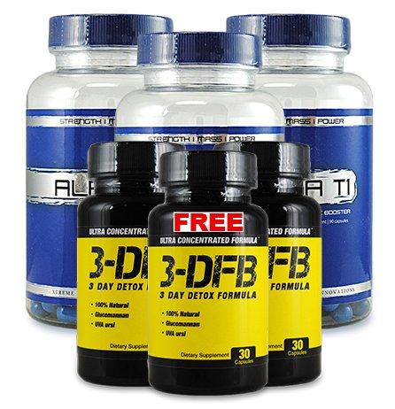 Alpha T1 3 Pack 3 et 3 DFB gratuit - Booster de testostérone - Supplément de booster de testostérone - Le meilleur métabolisme Booster