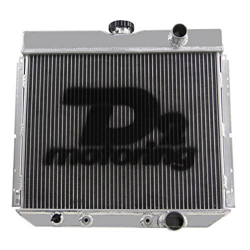 """Primecooling 3 Row Core Aluminum Radiator for Mustang Cougar Fairlane More Models V8 L6 Engine 1963-70 (20"""" Core Wide)"""
