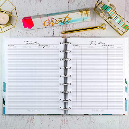 Transaction Check Book Register Planner Inserts | Refill for Happy Planner Classic