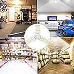 LED Garage Lights 125W Ceiling Lights E26 Deformable Three-Leaf Garage Light 14,000lm Tribright LED Adjustable Light… 14