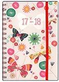 Tallon A5 Jour Par Page Scolaire Milieu D'année Agenda, 2017-2018 - Papillon, A5