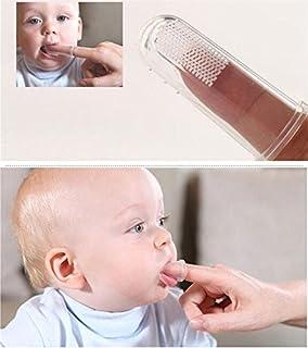 5pcs / Set suaves del bebé de las manos sin peligro cepillo de goma del masaje
