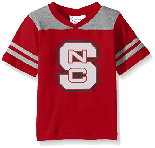 Two Feet Ahead NCAA North Carolina State Wolfpack Toddler Boys Football Shirt, Red, 2