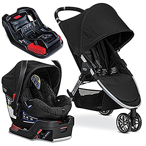 Britax 2017 B-Agile/B-Safe 35 Travel System. Black & Extra B-Safe 35/Elite Base by Britax USA